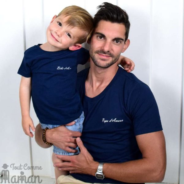 tenue parent enfant assortis tee shirt amour tout comme maman. Black Bedroom Furniture Sets. Home Design Ideas